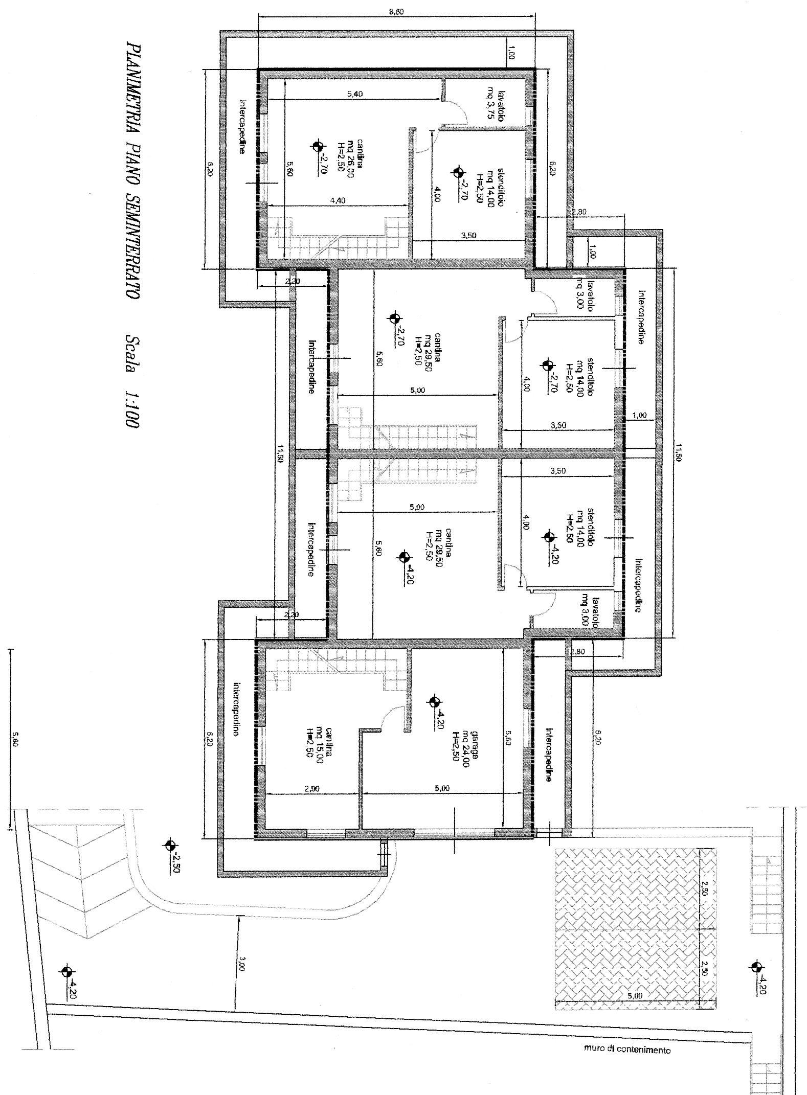 Piano seminterrato piano seminterrato dnd immobiliare for Piano seminterrato